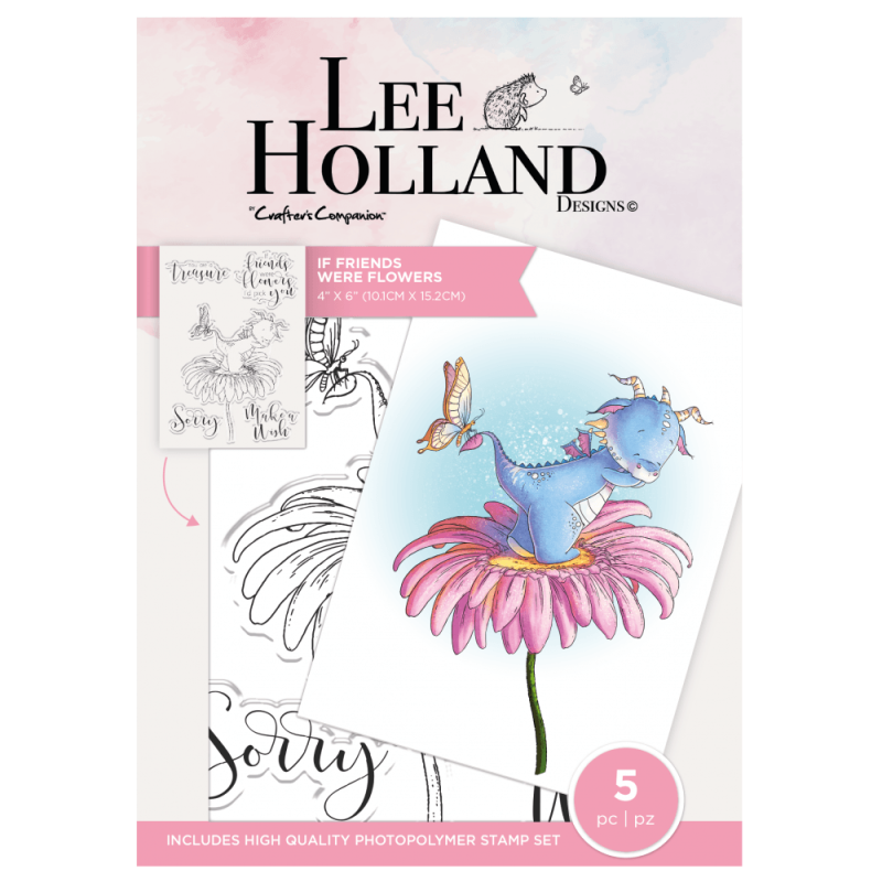"""Crafter's Companion Lee Holland """"If Friends Were Flowers"""" (LH-STP-IFWF)"""