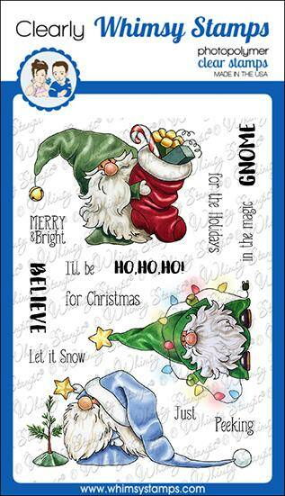 Whimsy Stamps Stempel - Gnome for the Holidays (C1366)