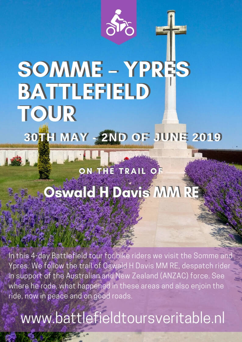 Somme - Ypres tour, in the trail of Oswald Davis.