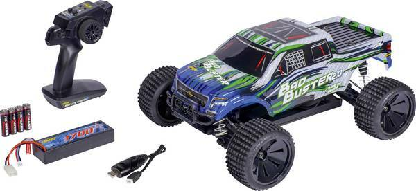 Carson Modellsport Bad Buster 1:10 RC auto Elektro Monstertruck 4WD RTR 2,4 GHz