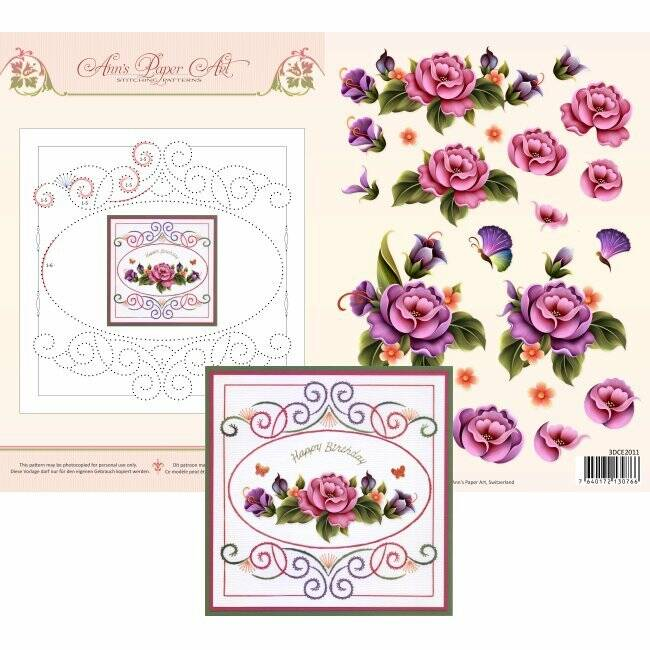 3D Card Embroidery Sheet