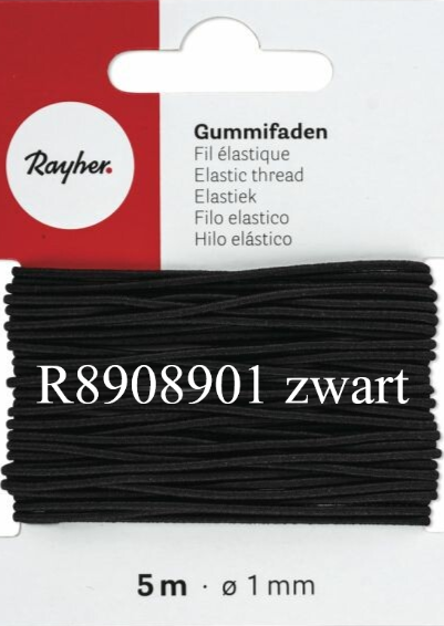 Rond elastiek diam. 1mm - 5m