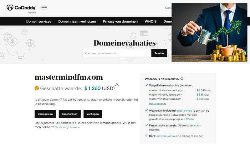 Mastermindfm.com: Invest in your top domain - Begin your own project