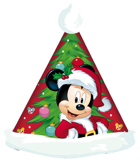 Arditex kerstmuts Mickey 43 x 32 cm polyester rood