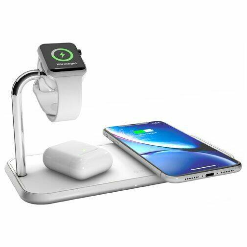 Sale!  Zens Draadloze Snellader 10W + Apple Watch Stand White .