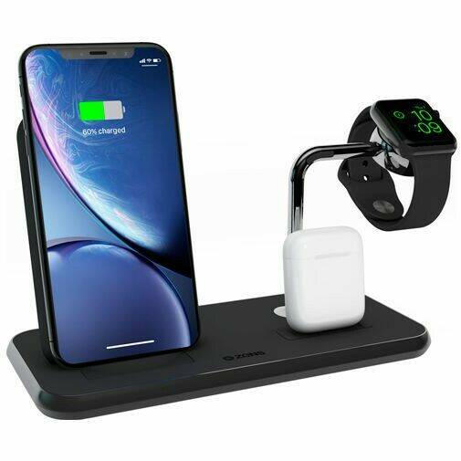 Sale!  Zens Draadloze Snellader Stand 10W + AirPods Dock + Apple Watch Stand Black