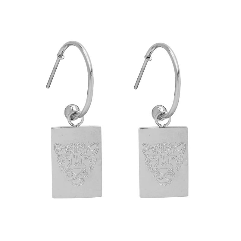 Earrings Stay wild tiger silver
