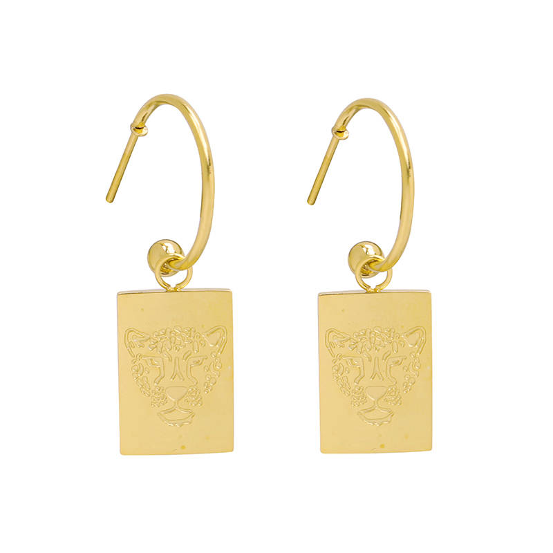 Earrings Stay wild tiger gold