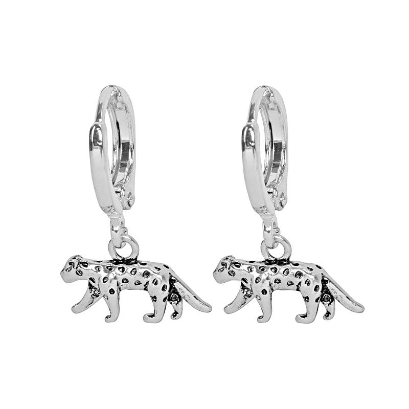 Earrings Lucky Leopard silver