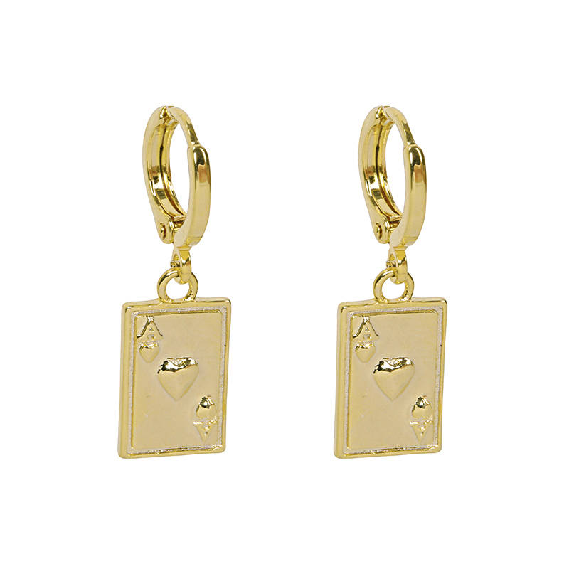 Earrings Ace Of Cards