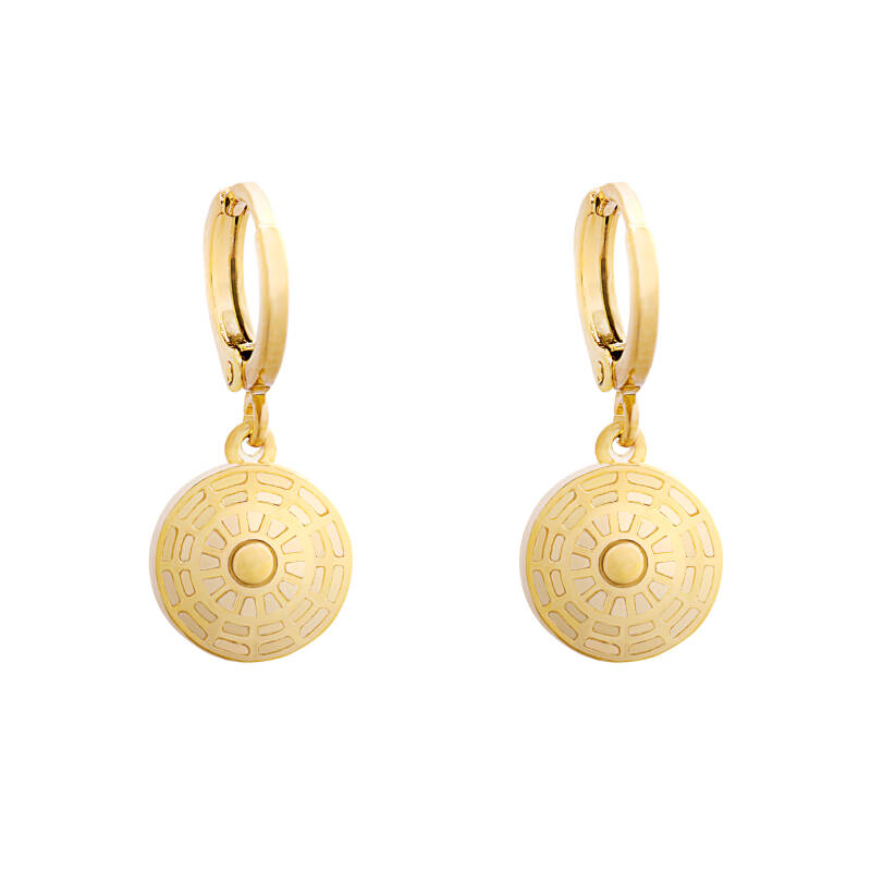 Earrings Round Coin gold