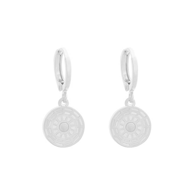 Earrings Round Coin silver