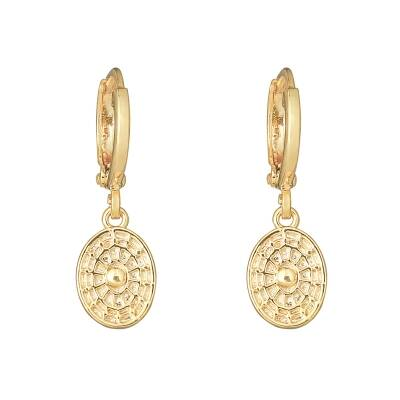 Earrings Oval Coin gold