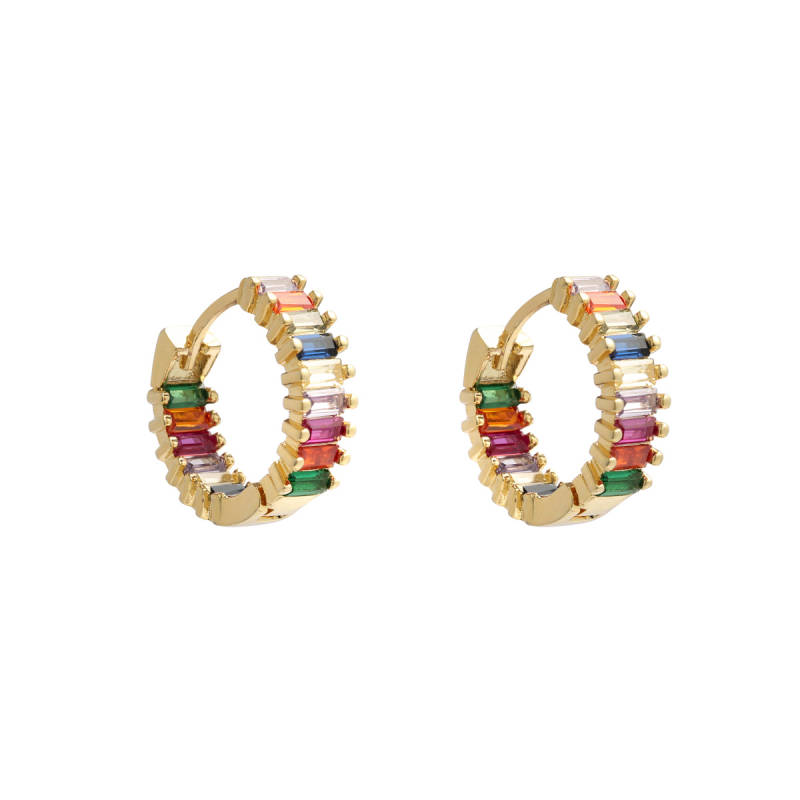 Earrings Rainbow clips gold