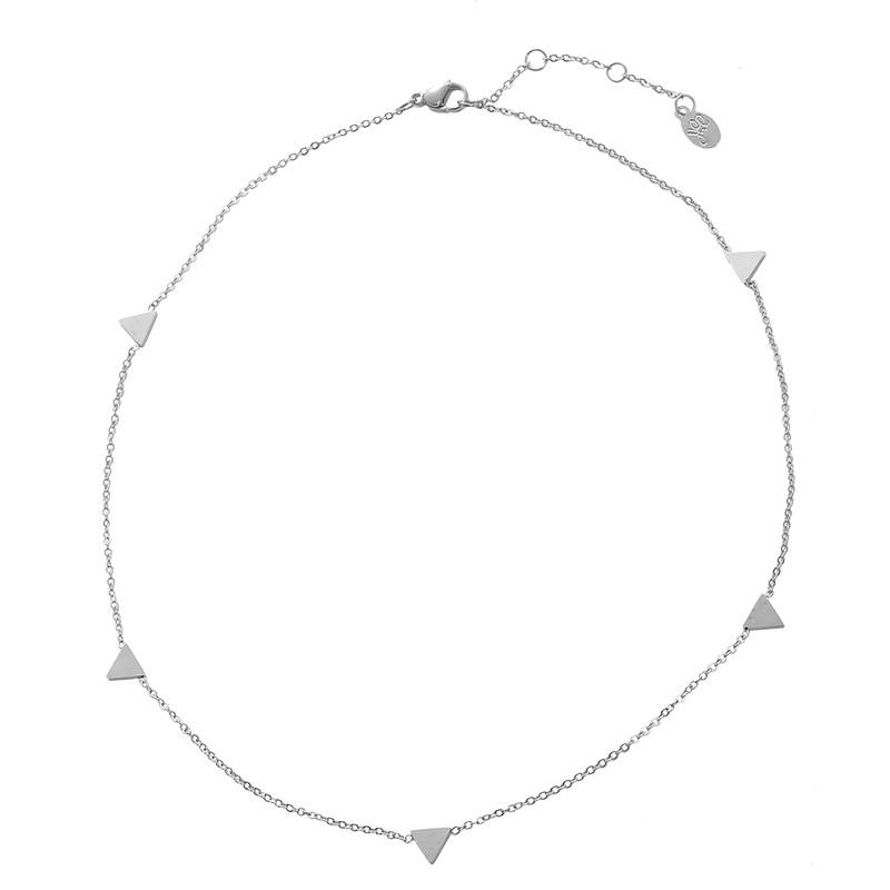 Necklace Triangle Points silver
