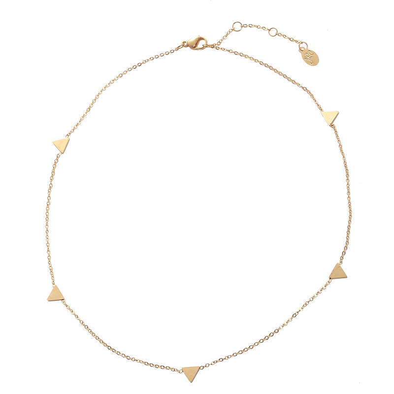 Necklace Triangle Points gold
