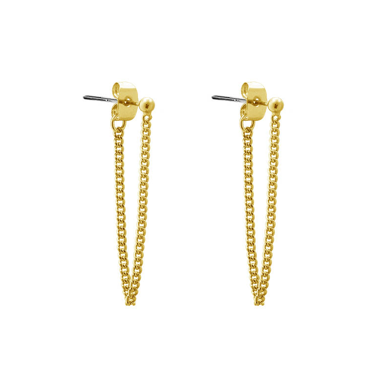 Earrings Dot Chain gold