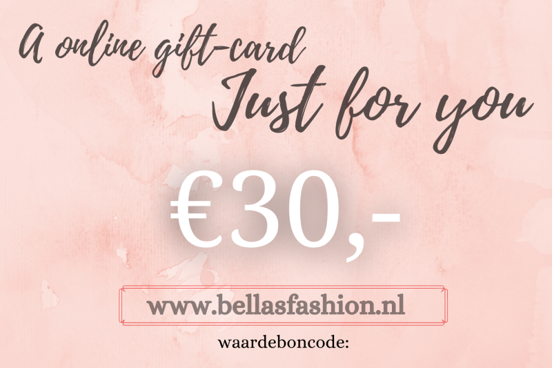 ONLINE GIFTCARD €30,-