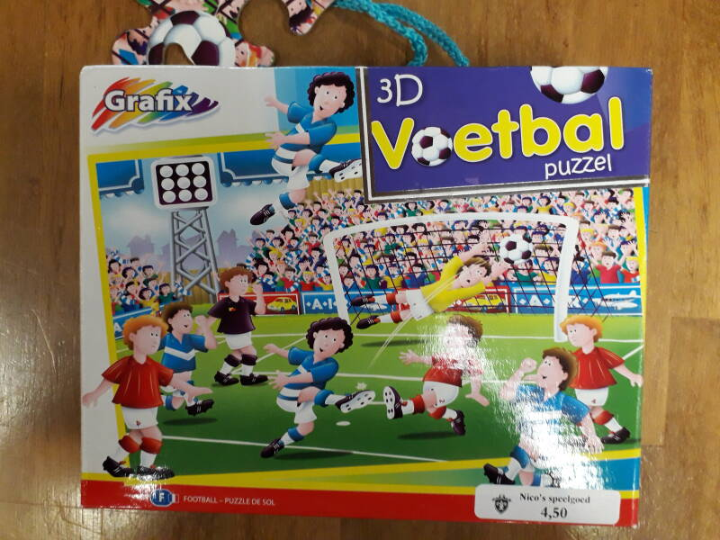 3d puzzel voetbal