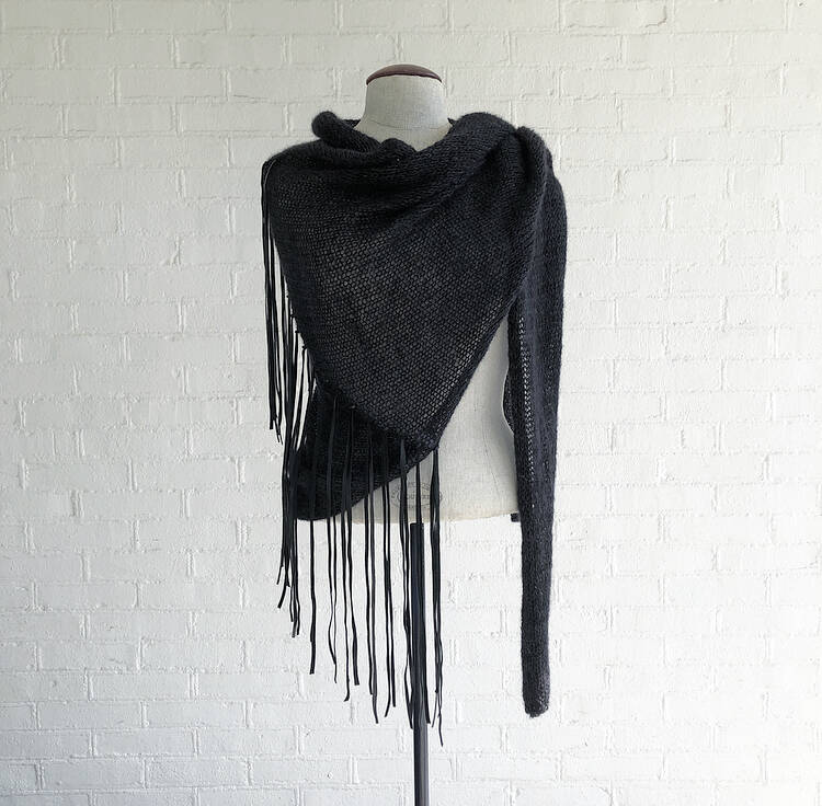 Mono Leather Fringe Light Wrap