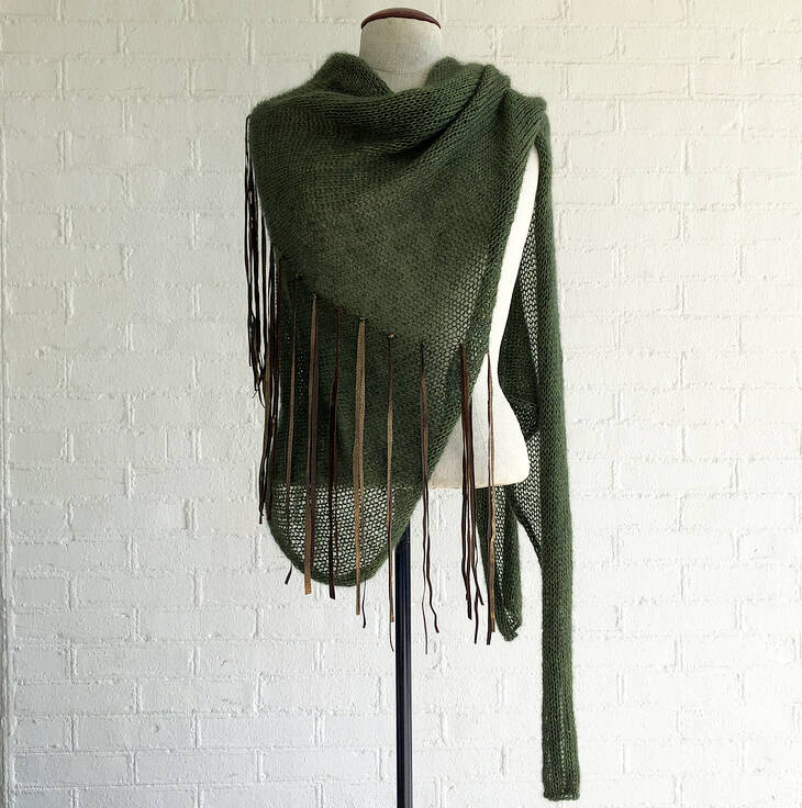 Softs Leather Fringe Light Wrap