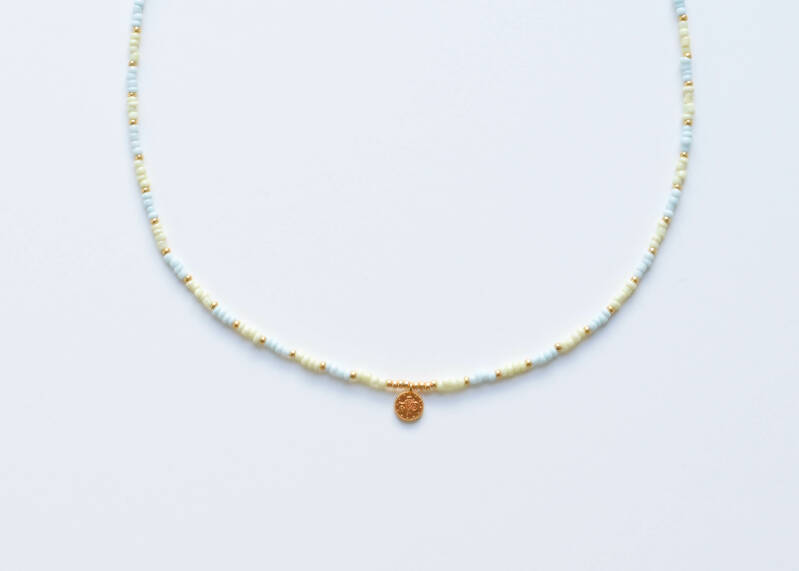 Pastel coin necklace