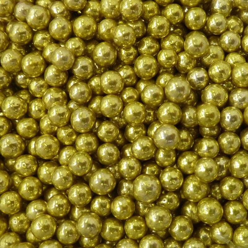 Metallic pearls gold*