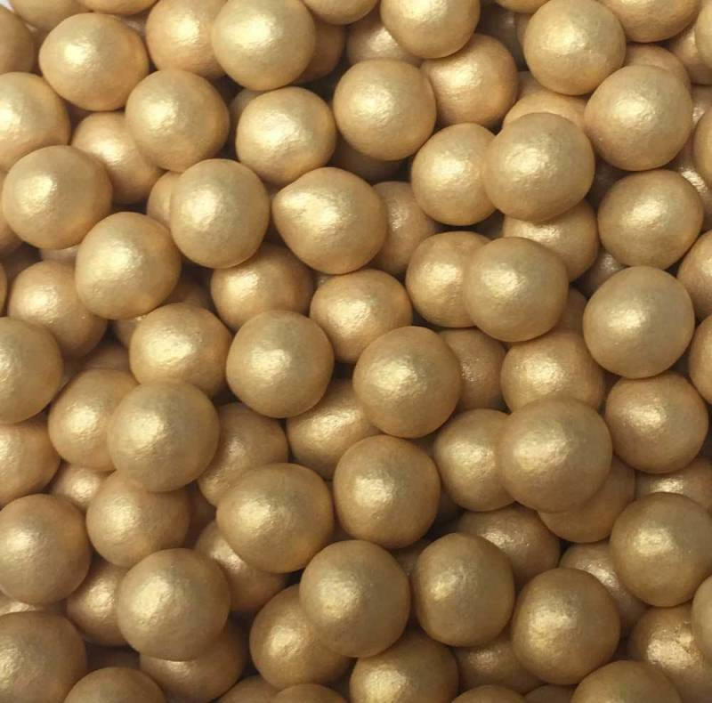 Choco pearls gold small