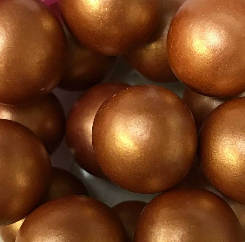 Choco pearls copper/rosé gold extra large*