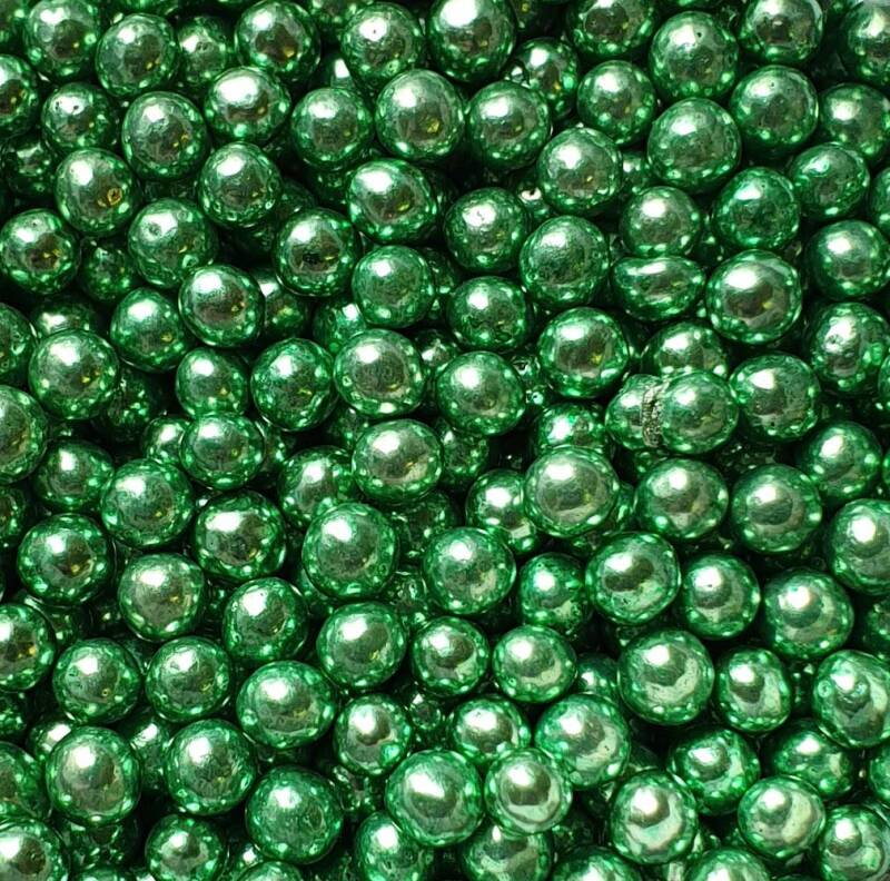 Metallic pearls green*