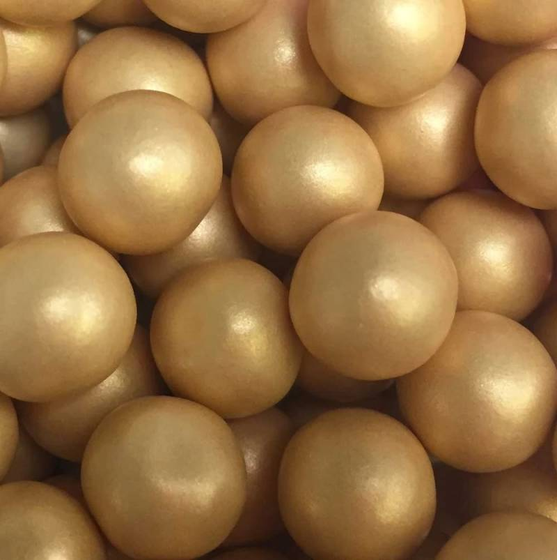 Choco pearls gold large