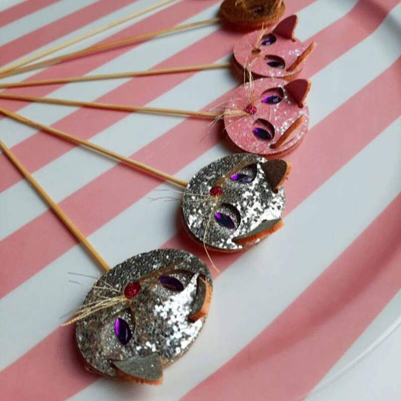 Cat toppers silver