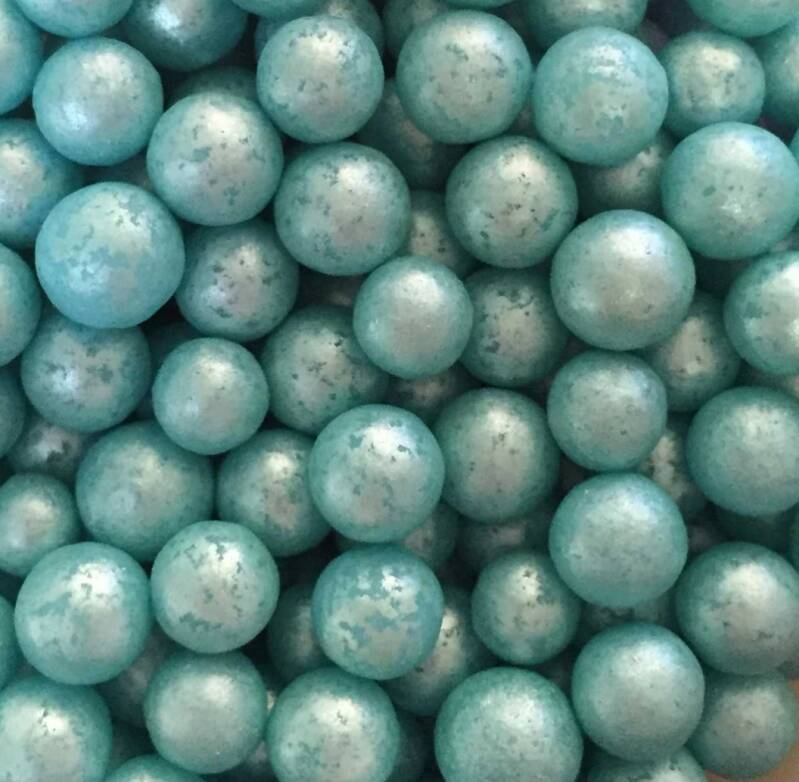 Pearls turquoise glimmer large