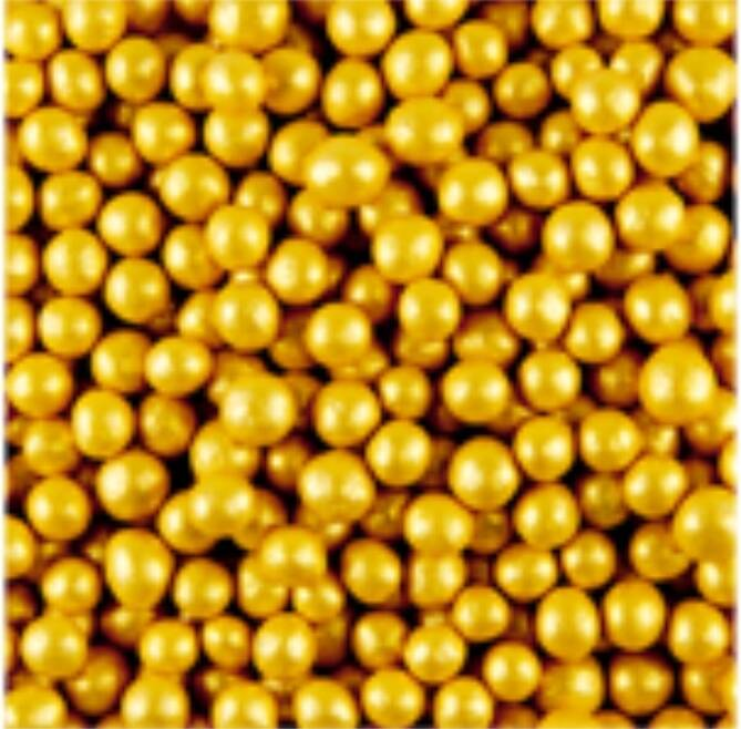 Pearls gold glimmer medium
