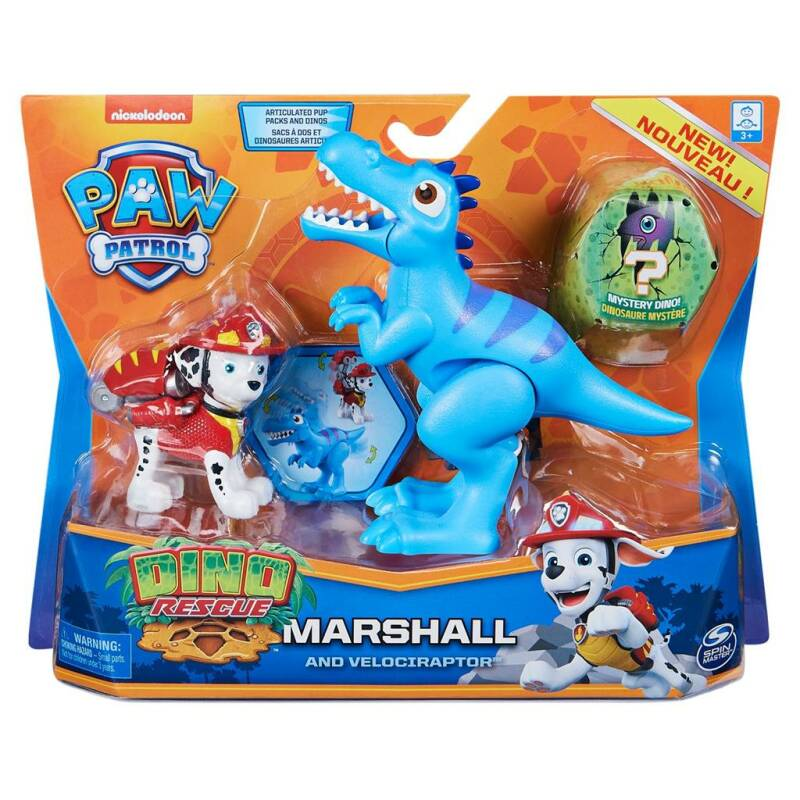 Spinmaster Paw Patrol Dino Action Pack Pup Marshall