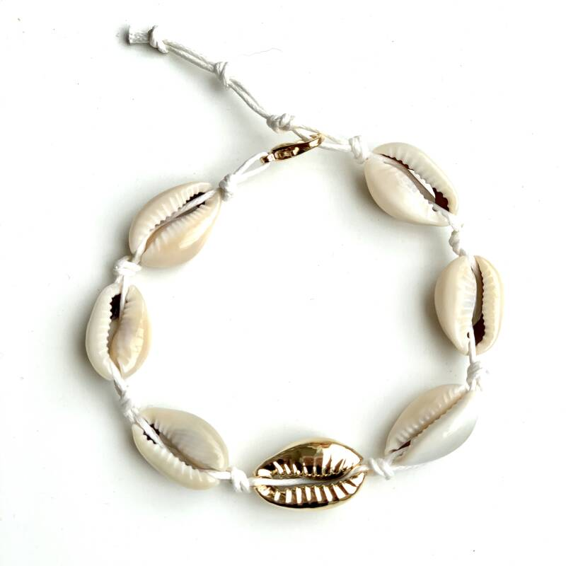 Armbandje- shell touch of gold