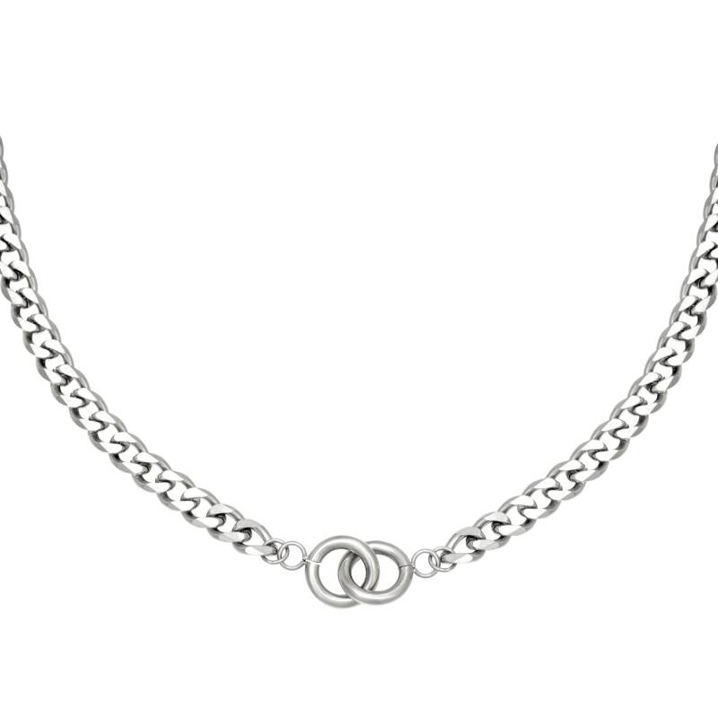ketting- intertwined zilver