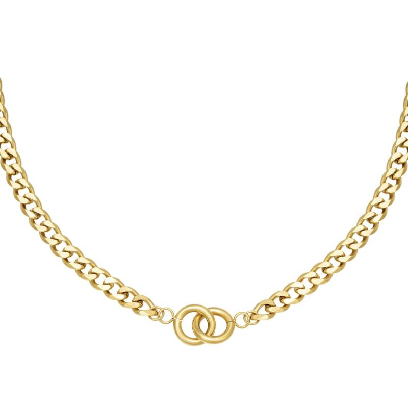 ketting- intertwined goud