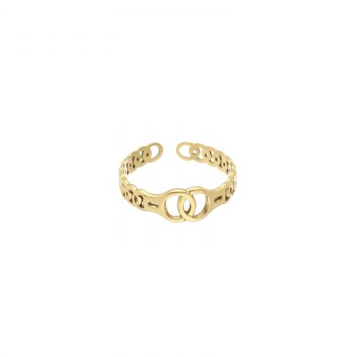 ring- intertwined goud