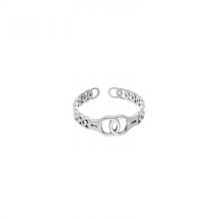 ring- intertwined zilver