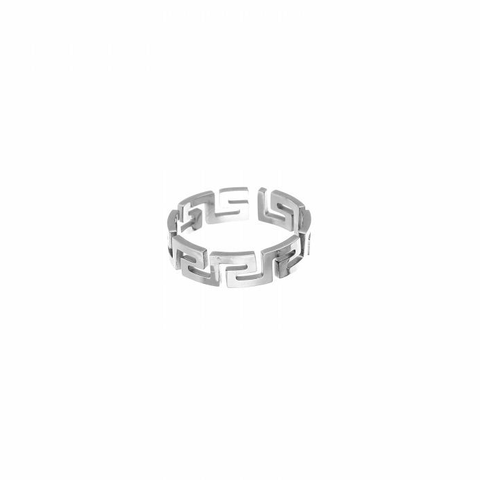 ring- F inspired zilver