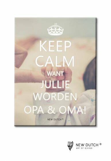 Tegel Keep Calm Want jullie...