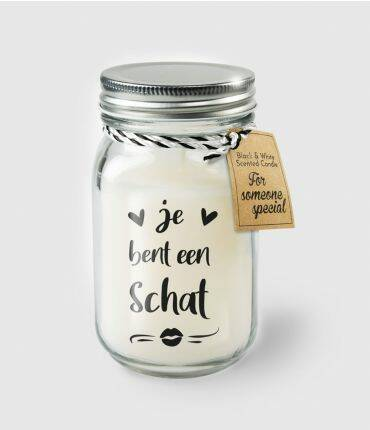 Black & White scented candles - Je bent een schat