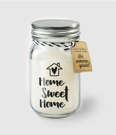 Black & White scented candles - Home sweet home