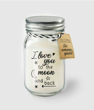 Black & White scented candles - To the moon