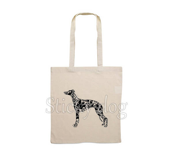 Canvas bag Whippet dog pattern