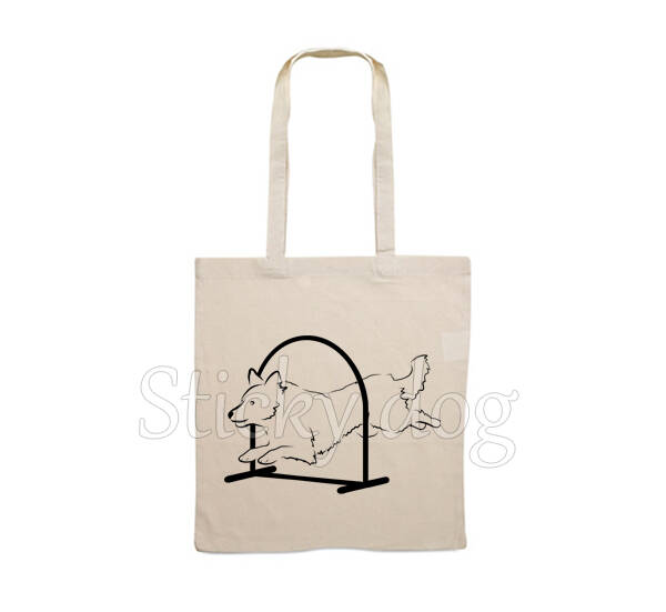 Canvas bag Border Collie hoopers dog silhouette
