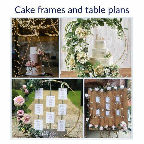 Cake Frames and table plans - Hire Only