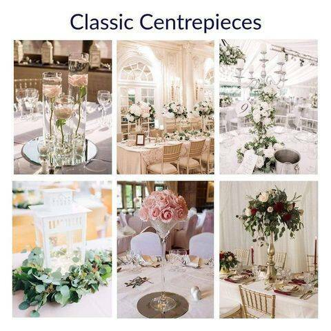 Centrepeices - Florals Charged separately.