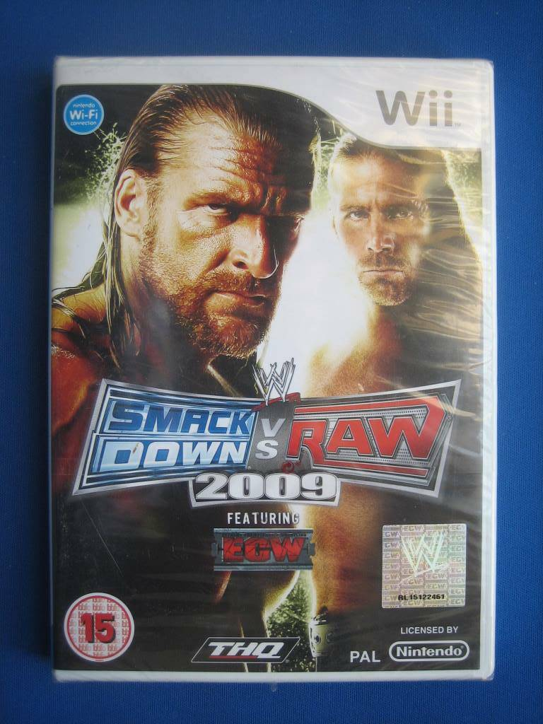 SmackDown vs Raw 2009 (NEW SEALED) - Wii